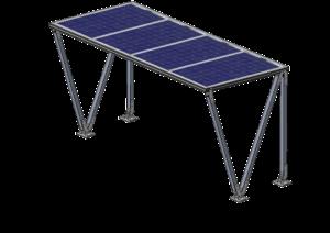 4x bifaciální celoskleněný monokrystalický fotovoltaický modul B72 / 380 Wp